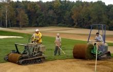 Golf Course; Big Roll Sod Installation