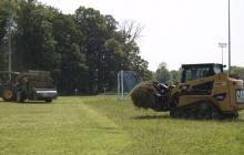 Soccer Field; No-Till Bermuda Grass Sprigging
